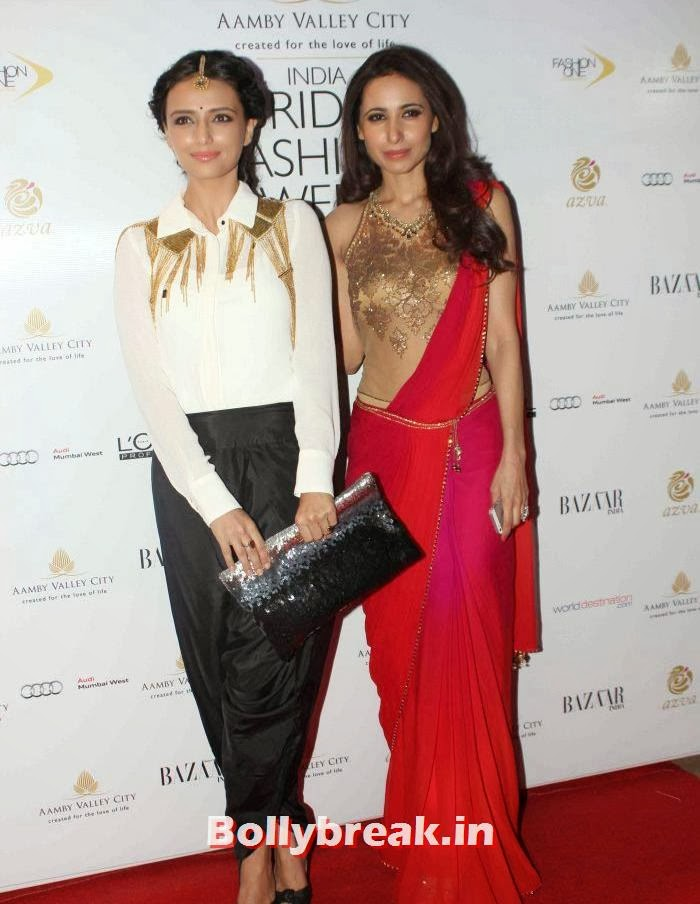 Roshni Chopra, Mandira Wirk, Hot Celebs at India Bridal Fashion Week 2013