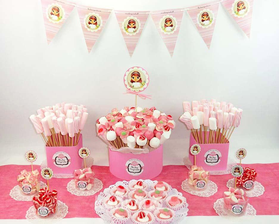 Manualidades e ideas para tus fiestas infantiles mesas para comunion - Ideas para decorar mesas de chuches ...