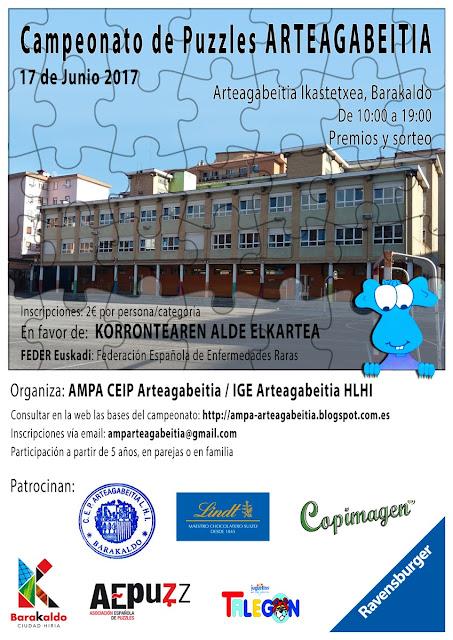 Cartel del campeonato de puzles de Arteagabeitia