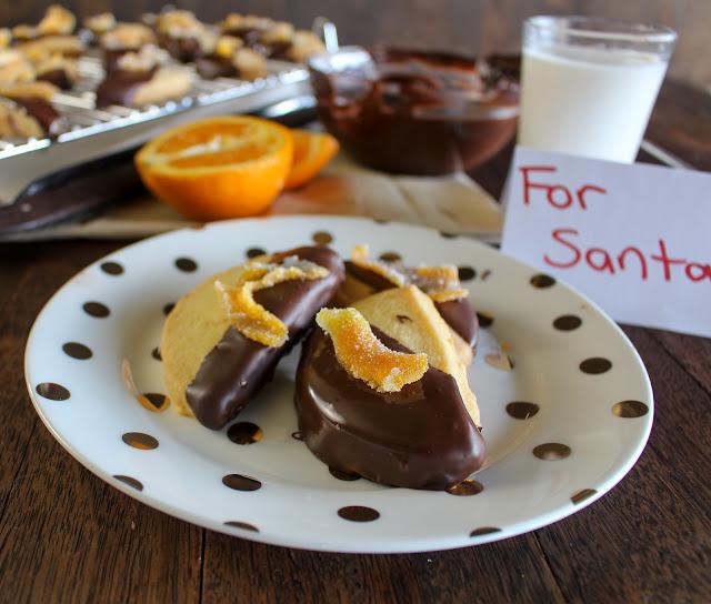 Cassie Cakes - Choc Orange Shortbread with candied orange peel