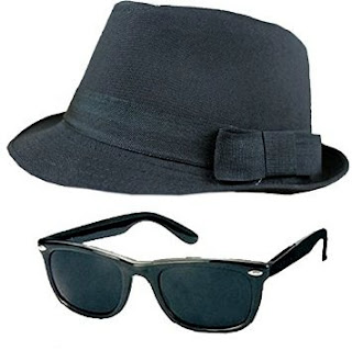 Blues Brothers Fedora and Wayfarer Glasses Kit