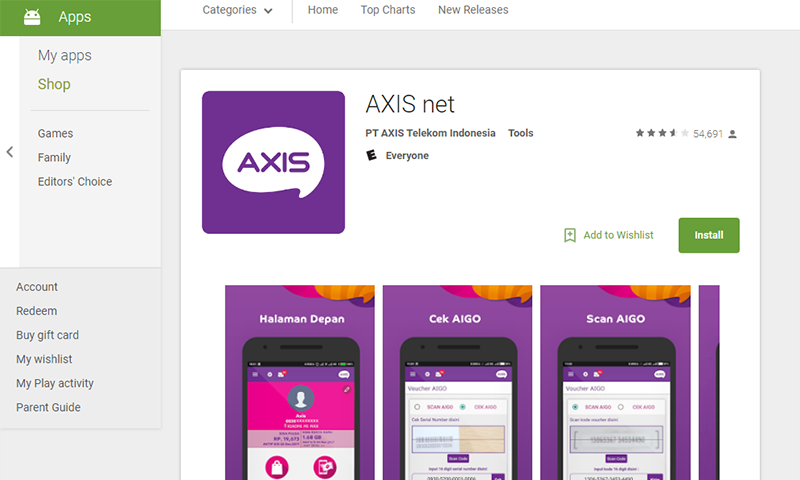 Cara Cek Paket Internet AXIS Di Android Dengan Aplikasi AXIS net