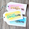 Foil Watercolor Gift Tags