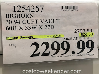 Deal for the Bighorn Executive Vault B6033XGL-PWT at Costco