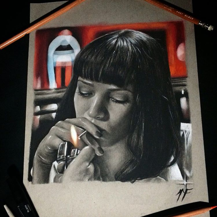 02-Mia-Wallace-Pulp-Fiction-Uma-Thurman-Natasha-Farnsworth-Drawings-and-Paintings-Celebrity-Portraits-www-designstack-co