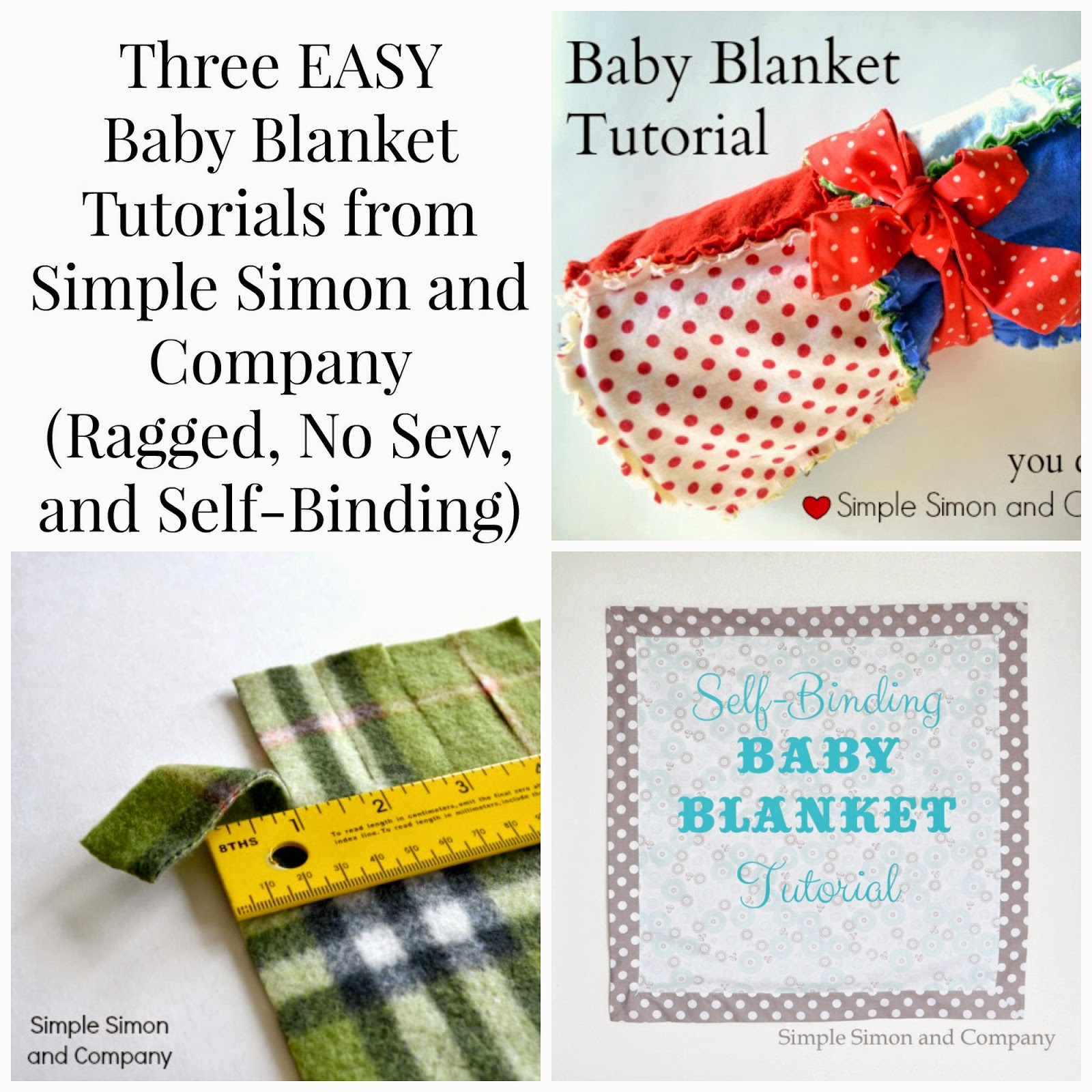 Three Easy Baby Blanket Tutorials