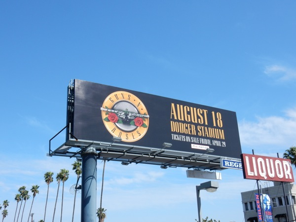 Guns N Roses Dodger Stadium concert 2016 billboard