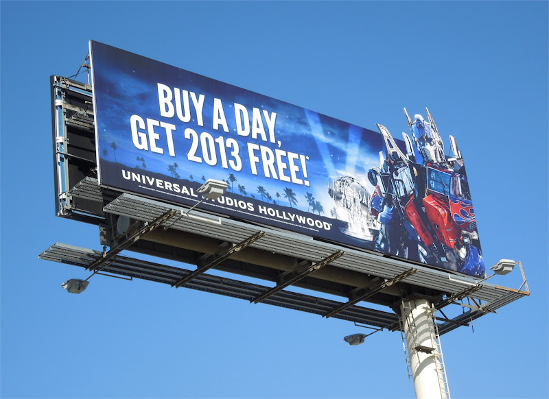 Universal Studios Transformers Optimus Prime 2013 billboard