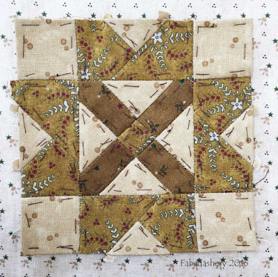 Dear Jane Quilt - Block K11 Columbine