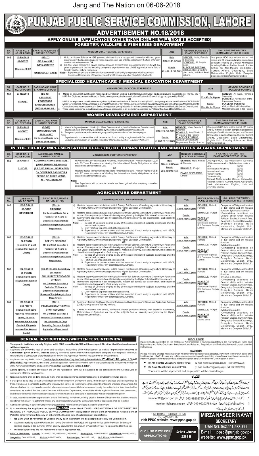 Punjab Public Service Commission Jobs