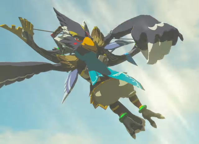 The Legend of Zelda Breath of the Wild Falco Lombardi bird man avian arrows bow