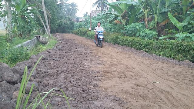 Warga Desa Purwoasri Perbaiki Jalan Dengan Swadaya Masyarakat