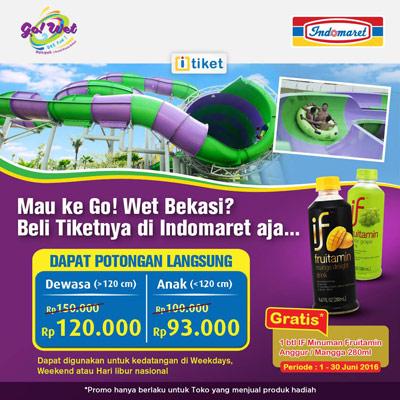 Diskon Tiket Go Wet Waterpark Bekasi – Indomaret