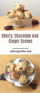 Easy to make Cherry, Chocolate And Ginger Scones