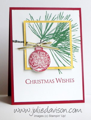 Stampin' Up! Ornamental Pine Double Layer card