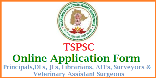 TSPSC Online Application Form for REIS Principals DLs JLs Librarians Veterinary Assistants Surveyors AEEs Telangana Public Service Commission Online Application for Residential Educational Institutions Society REIS Principals, Degree Lecturers Junior Lecturers Deputy Surveyors, Assistant Excutive Engineers Librarians Veterinary Assistant Surgeon Posts Recruitment Notification issued by TSPSC Apply Online for Telangana State Public Service Commission official Website http://tspsc.gov.in | TSPSC has issued Notification for Various Posts Recruitment Notification in Various Departments of Telangana Govt tspsc-online-application-form-for-reis-principals-dls-jls-librarians-aee-surveyors-veterinary-surgeons