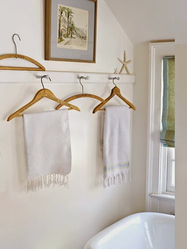 vintage hangers for towel hooks