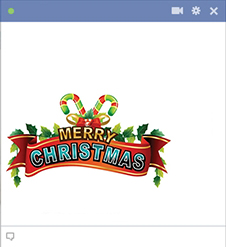 Merry Christmas Facebook Sticker