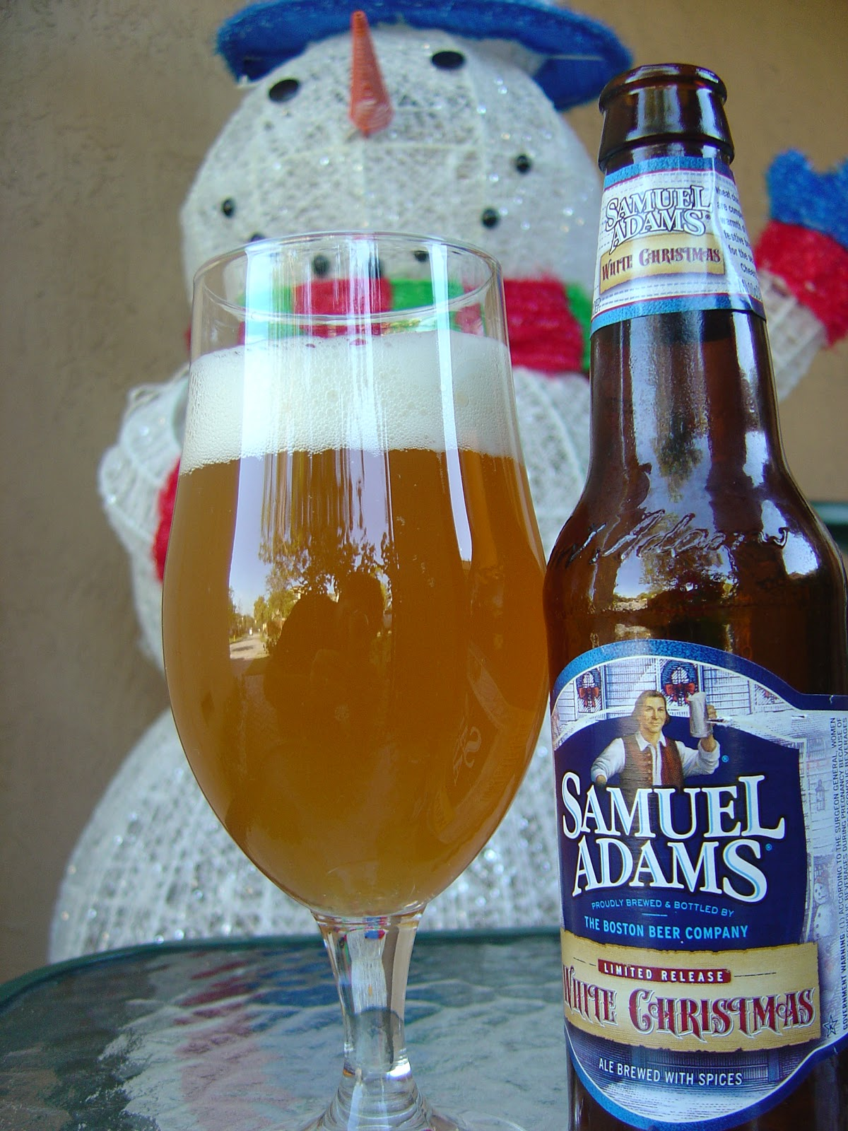 Sam Adams White Christmas.Daily Beer Review Samuel Adams White Christmas