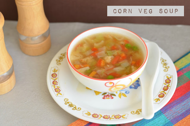 Healthy Vegetable Soup Recipe Using Cornflour