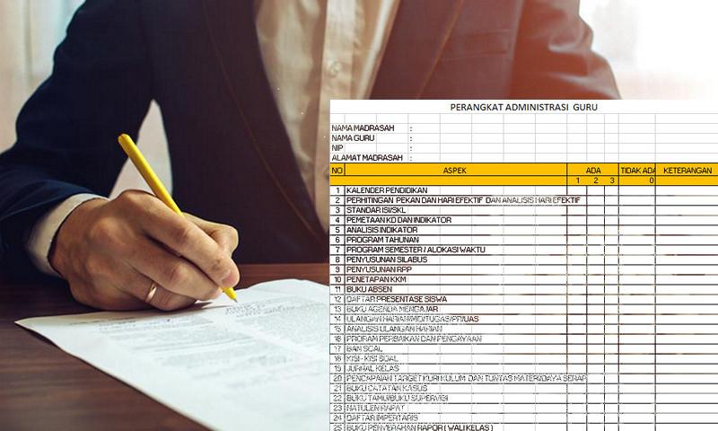 Download 24 Berkas Lengkap Administrasi Guru Dalam 1 File Excel