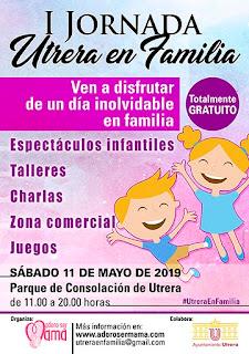 Cartel de la I Jornada #UtreraEnFamilia