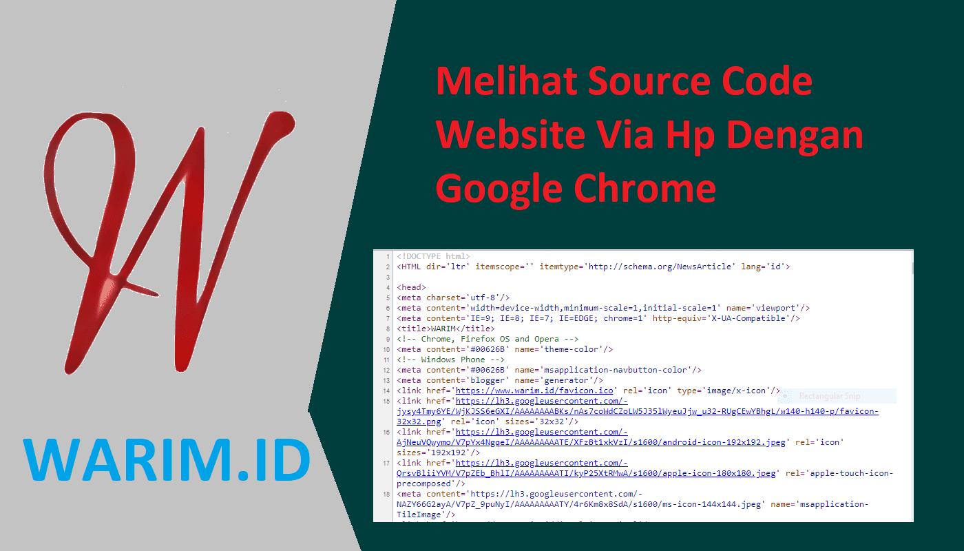 Melihat Source Code Website Via Hp Dengan Google Chrome