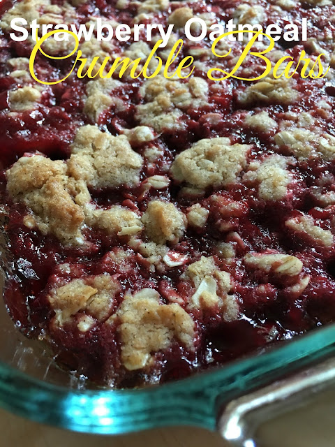 Harris Sisters GirlTalk: Strawberry Oatmeal Crumble Bars