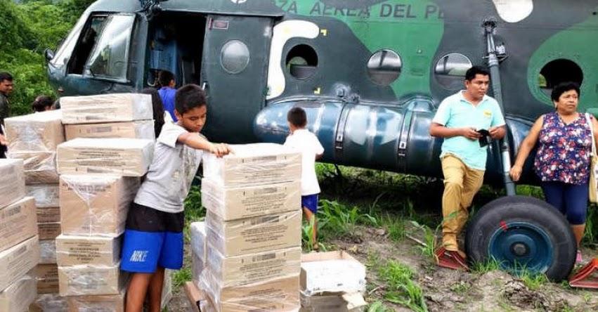 MINEDU distribuye materiales educativos con apoyo de las FFAA - www.minedu.gob.pe