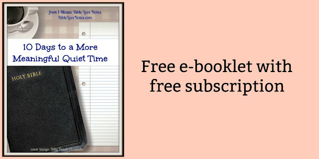 Free e-booklet with free subscription to Bible Love Notes 1-minute devotions