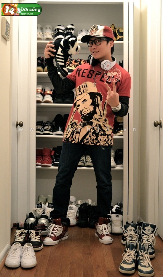 Bộ sưu tập giày sneaker tột đỉnh của anh chàng việt tại mỹ bạn nữ nào cũng m0ê