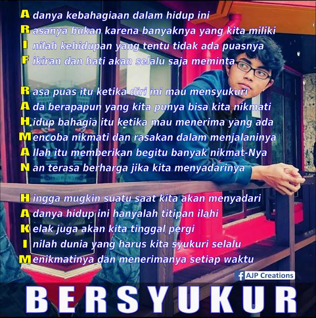 Kreasi Arti Nama - Arif Rahman Hakim - Tema Bersyukur