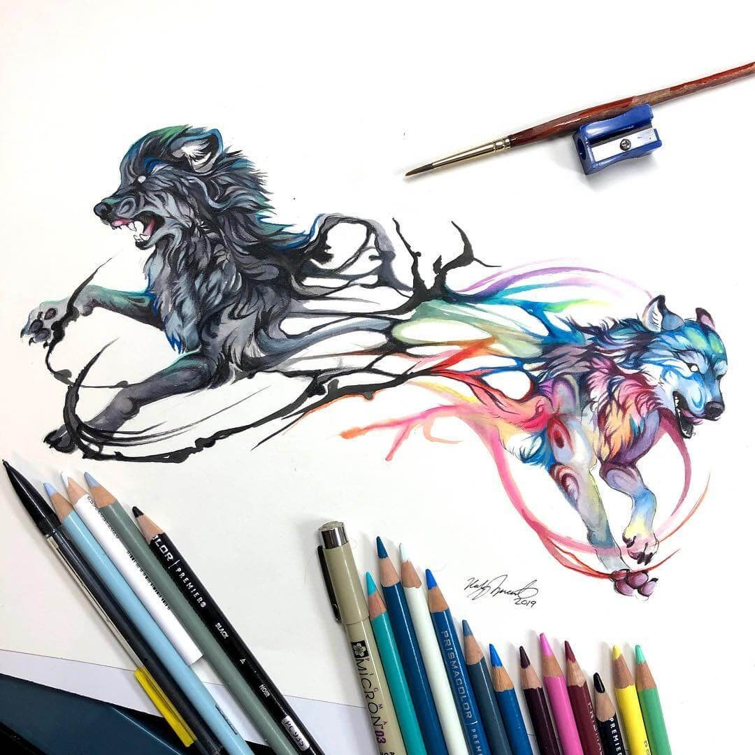 08-Wolfs-K-Lipscomb-Fantasy-and-Real-Life-Animal-Drawings-www-designstack-co