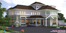 Traditional Style Luxury Villa 4000 Sq-ft - Kerala Home