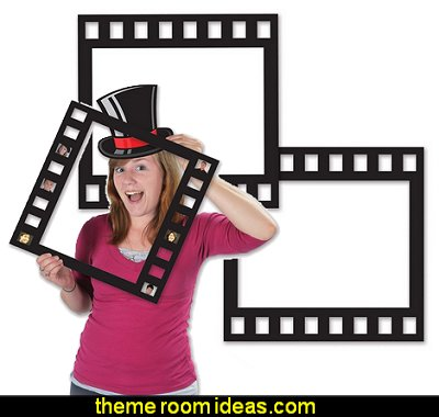 Filmstrip Photo Fun Frames  Movie themed bedrooms - home theater design ideas - Hollywood style decor - movie decor -  Film decor - home cinema decor - movie theater decor - Home Theater Curtains - cabinet knobs movie theater - movie themed decorating ideas - movie props - designing a home theater room -  decorating home theater ideas -
