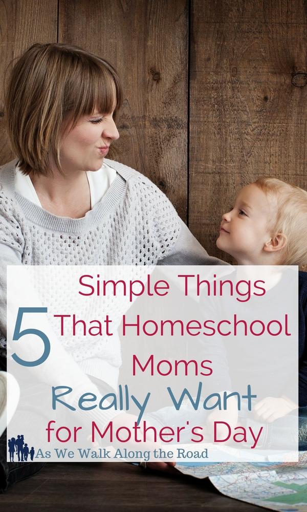 Homeschool moms Mother's Day