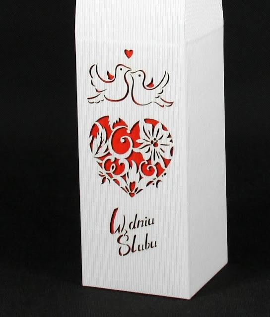 Pudełko na ślub z grawerem