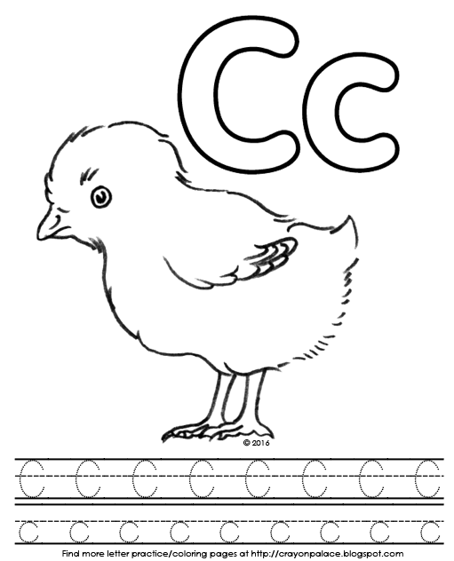 C Is For Chick Alphabet Coloring Pages