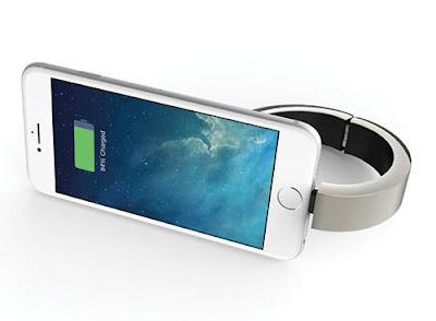 Qbracelet smartphone recharger