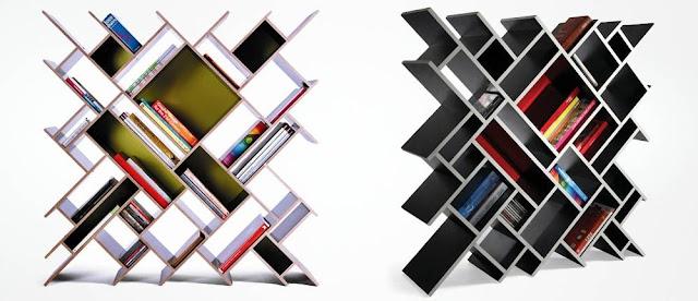 Modelos de estantes innovadores para libros : decoración del hogar ...