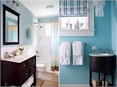 Bathroom Ideas Dark Blue Confident