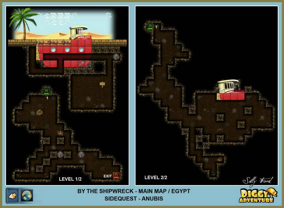 Diggy's Adventure Walkthrough: Egypt Main / By the Shipwreck