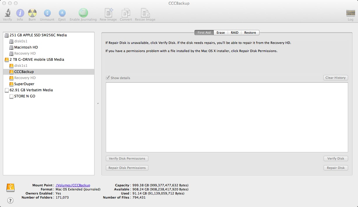 Cloning my MacBook Air and media errors | Notes & Such
