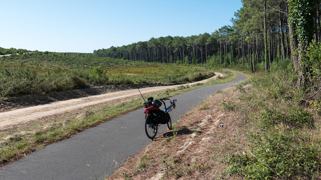 Vélodyssée, la piste entre Contis-Plage et le Cap de l'Homy