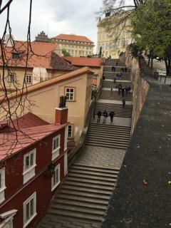 prague czech republic wanderlust travelblog europe prague castle steps