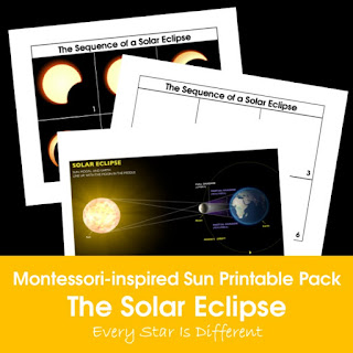 Montessori-inspired Sun Printable Pack: The Solar Eclipse
