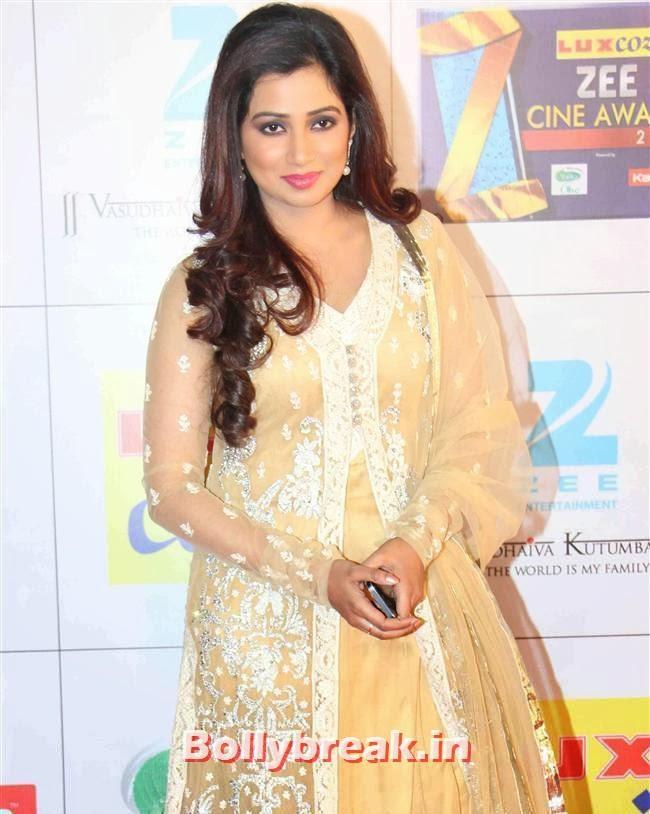 Shreya Ghosal, Zee Cine Awards 2014 Red Carpet Pics