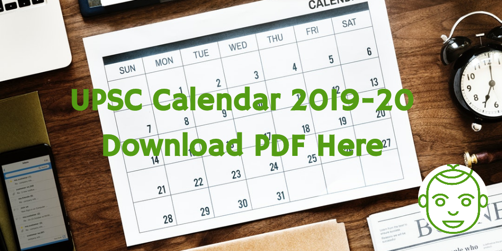 upsc calendar 2019 20 download pdf here