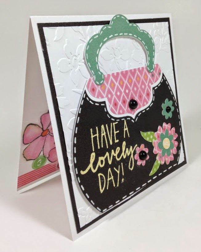 Cricut Handbag Lovely Day card sideview