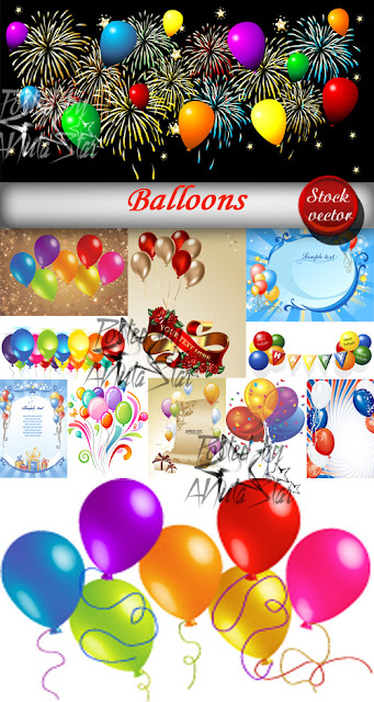 Set de backgrounds o fondos con globos gratis